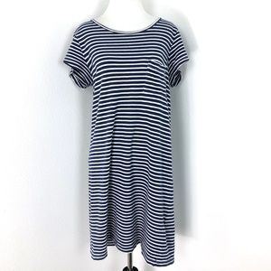 Joie Courtina Blue White Striped T-shirt Dress